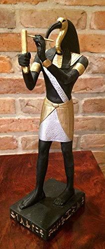 Karo TOTH Schreiber ÄGYPTEN Weisheit Egypt Mythologie WUNDERBAR HANDBEMALT Dekoration Statue SKULPTUR