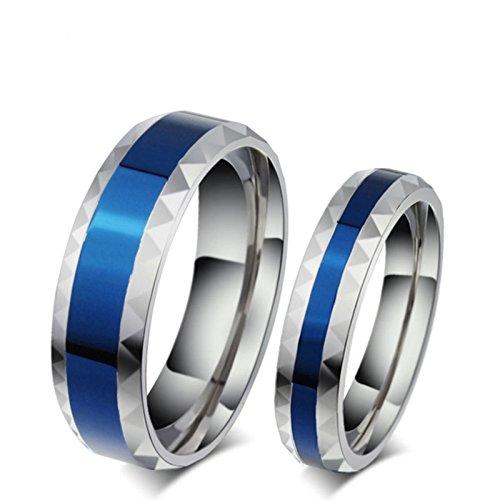 Beydodo anelli san valentino per lui e lei anello coppia acciaio inossidabile anello bicolore donna misura 10 & uomo misura 27