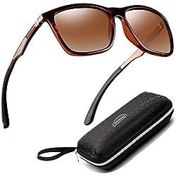 Perfectmiaoxuan Gafas de sol para hombre mujer polarizadas/Ciclismo El golf Conducción Pescar Alpinismo Gafas vintage/Deportes al aire libre gafas de sol de playa UV400