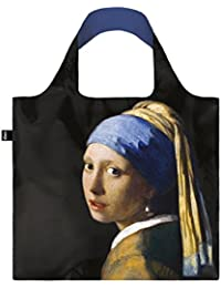 JOHANNES VERMEER Girl with a Pearl Earring Bag: Gewicht 55 g, Größe 50 x 42 cm, Zip-Etui 11 x 11.5 cm, handle 27 cm, water resistant, made of polyester, OEKO-TEX certified, can carry up to 20 kg