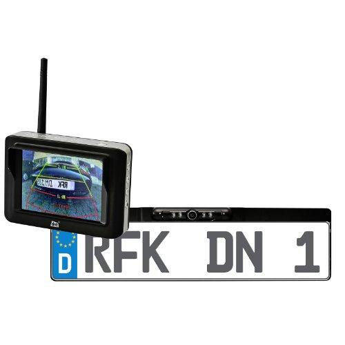 dnt Drahtlose Nachrichtentechnik Rückfahr-Kamerasystem mit integriertem Funk-Empfänger (8,9 cm (3,5 Zoll) TFT-Display) schwarz