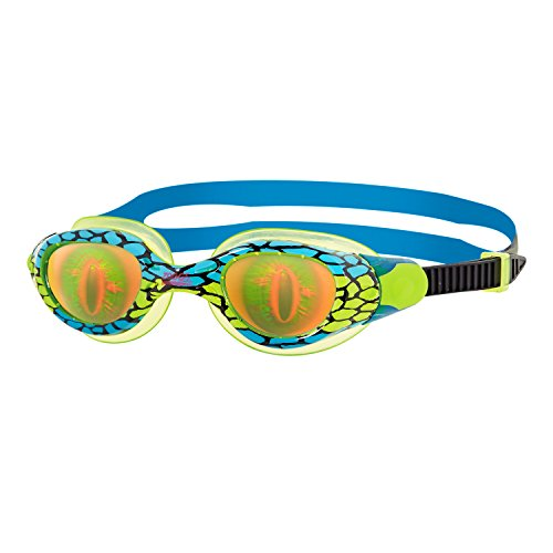 Zoggs Kinder Schwimmbrille Sea Demon Junior, Green/Blue/Hologram, 6-14 Jahre, 303539