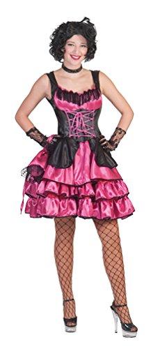 aloon-Girl Can Can Kostüm Damen lang sexy pink-schwarz Western-Kostüm Kleid inkl. Tasche Größe 36/38 (Saloon Girl Kostüm Für Kinder)