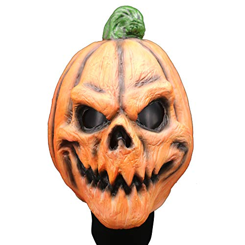 J&A Halloween Kürbis Horror Maske, Neuheit Spielzeug Latex Kopf Cosplay Requisiten, Geistermaske