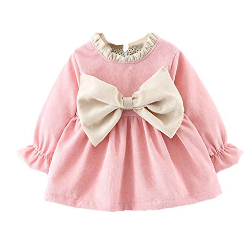 87446e950 K-youth Vestidos para Niñas Vestido Bebe Niña Invierno Recien Nacido ...