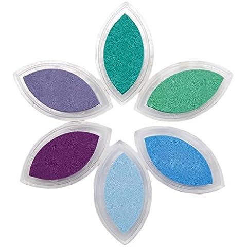Clearsnap - Occhio Di Gatto Di Fluido Color box Gesso In Coda Inkpad 6/Pkg-Misty Meadow - Colorbox Coda Gesso Fluido