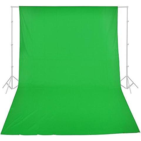 Foto-gears professionale 9.8x19.6ft / 3 x 6m Photo Studio Verde backgrop schermo 100% puro contesto della mussola Sfondo per la Fotografia, Video e Televisione (solo sfondo) - 3x6m Verde