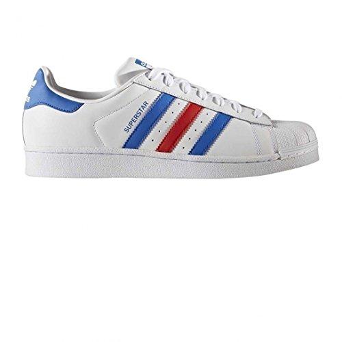 adidas Superstar Foundation Schuhe 6,5 white/blue/red