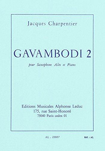 Gavambodi, n° 2 : Pour Saxophone alto e...