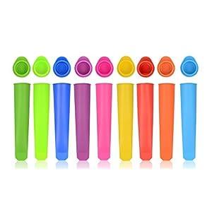 iNeibo Eisformen, Eis am Stiel formen aus Silikon, BPA Frei, 10er Set/Bunt