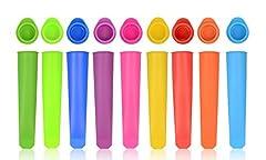 Idea Regalo - iNeibo - Stampo per Ghiaccioli | Set di 10 Stampi Ghiaccio in Silicone