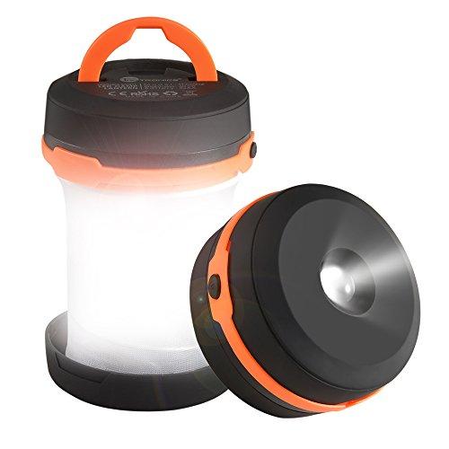 Taotronics lanterna led campeggio, torcia camping pieghevole, batteria caricata per piedi, escursionismo, emergenze, ecc
