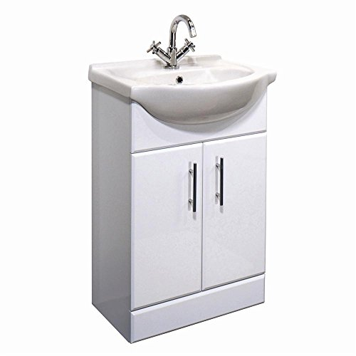 Fitted Bathroom Furniture Manufacturers: 1400mm White Gloss Fully Fitted Bathroom Furniture