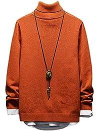 f500c49fad1 Amazon.fr   pull col roulé homme - Orange   Pulls   Pulls