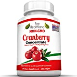 NON GMO TRIPLE STRENGTH Cranberry Concentrate Supplement Pills For Urinary Tract Infection UTI