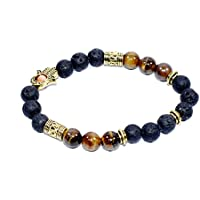 Bracelet Lava bead + Tiger Eye And Separator 8 MM +1 Pointer pendant Birthstone Handmade Healing Power Crystal... preisvergleich bei billige-tabletten.eu
