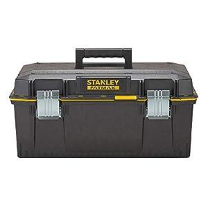 Stanley FatMax Werkzeugbox (58,4 x 30,5 x 26,7 cm, spritzwassergeschützer Koffer, robuste nicht-rostende Metallschließen, Box mit Gummiabdichtung für mehr Schutz) 1-94-749