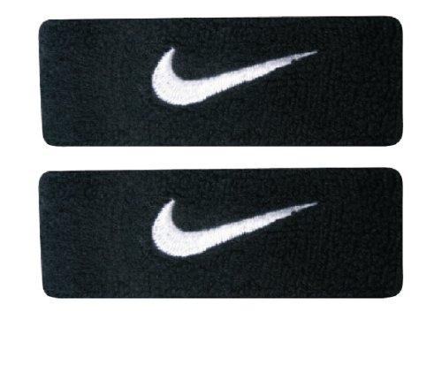 Nike Swoosh Bicep Bands (Black/White, Osfm)
