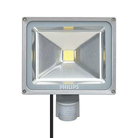 Philips LED Scheinwerfer QVF BVP117 LED41/740 WB MDU, 54 W, IP65, 4050 lm, 4000 K, 25000 h mit Bewegungsmelder 6932599