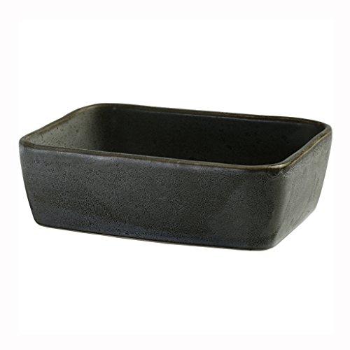 Chang Xiang Ya Shop Keramik-Backblech Backofen Besteck rechteckige Home Backblech (Color : Black)