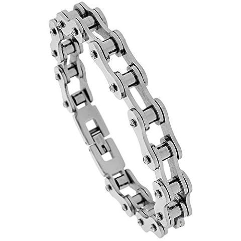 Solide Lien Chaîne de vélo en acier inoxydable Bracelet (Largeur 10mm),