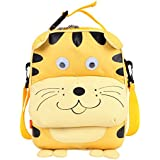 Yodo Playful Kids Tiger Face Lunch Box Carry Bag And Backpack School Bag For Tiffin Box