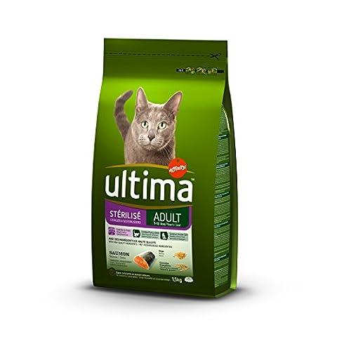 ULTIMA Croquettes au saumon - Pour chat stérilisé - (x8)