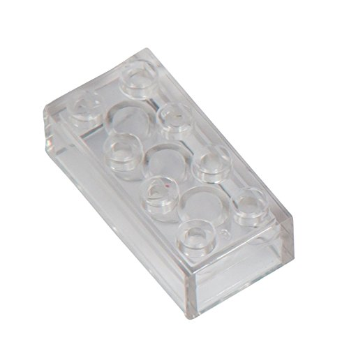 1000 Q-ladrillos bloques transparentes, tachuelas 4x2, compatible, ajuste, sola, suelta