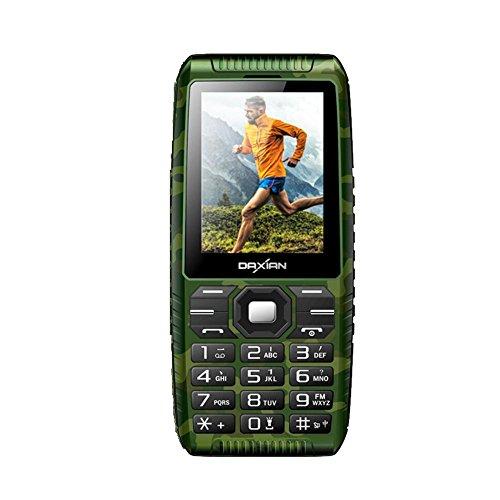 Outdoor-Handy 2,4-Zoll-großes Schlüsseltelefon IP68 wasserdicht Stoßfest Staubdicht Robust Handy Geeignet für ältere Menschen (großer Knopf, Powerbank USB-Port, langer Standby, Taschenlampe, 2-Megapix