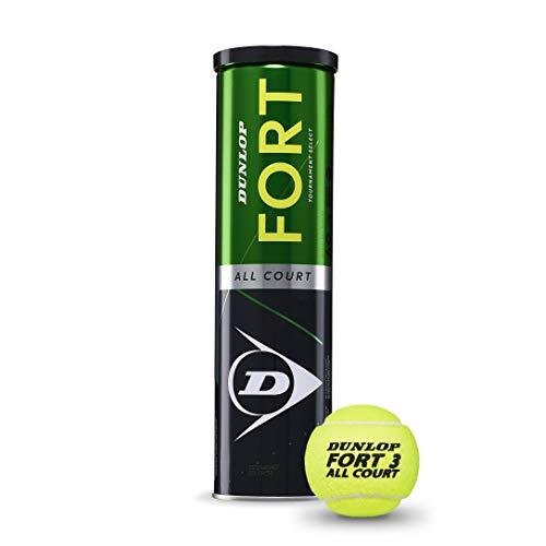 DUNLOP Fort all Court TS 4TIN - Palla da Tennis da Adulto, Unisex, Verde, Nero, Taglia Unica