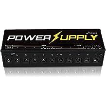 Donner - Alimentatore di potenza multi-output per effetti a pedale della chitarra elettrica con Adattatore Cavi di Alimentazione Versione A