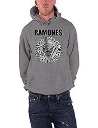 Ramones Presidential Seal Oficial de los hombres nuevo Gris Pullover Capucha