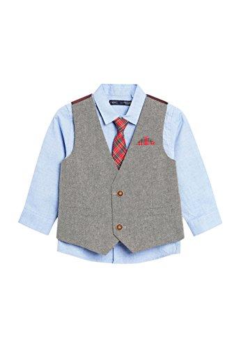 next Bimbo Completo Camicia, Gilet E Cravatta (3 Mesi-6 Anni) Grigio 12-18 mesi