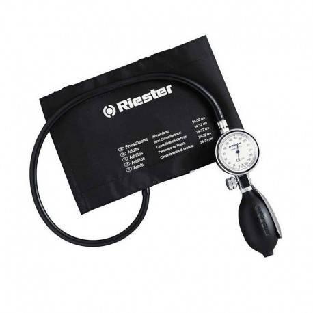 Riester 1312 minimus II Blutdruckmessgerät, Klettenmanschette Erwachsene, schwarz - Erwachsene Blutdruckmanschette