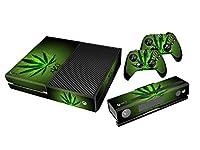 Stillshine Xbox ONE Design Folie Aufkleber für Konsole + 2 Controller + Kamera Sticker Skin Set (Green Leaf)