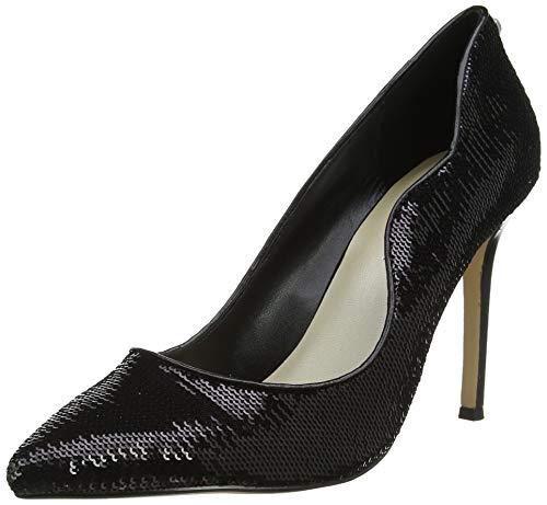 KAREN MILLEN Fashions Limited Damen Allover Sequin Court Heels Pumps, Schwarz (Black 01), 39 EU