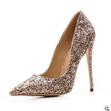 Sanmulyh Chaussures Femmes Pu Automne Confort Talons Talon Stiletto Bout Fermé Toe Décontracté Arc-en-ciel Vert Violet Noir Argent Or