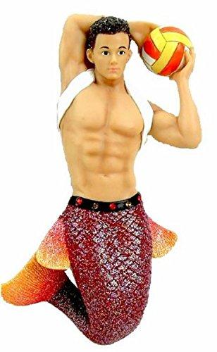 December Diamonds Fire Island Volleyball Merman Christmas Ornament 5555015 New