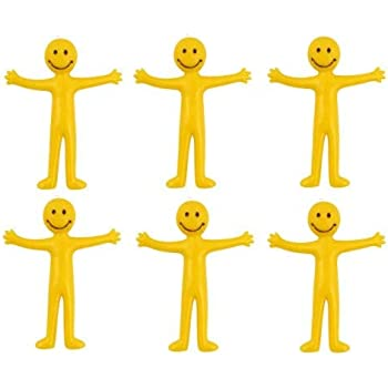 STRETCHY MAN YELLOW PARTY BAG FILLER LOOT BAGS COLORFUL BOYS GIRLS POCKET MONEY