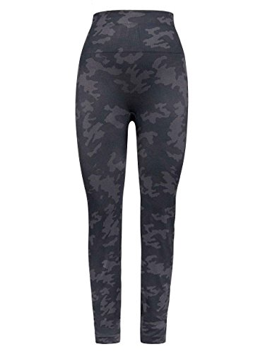 Spanx Camo Print Seamless Leggings with Double Layer Waistband and Matte Yarn - Layer Leggings