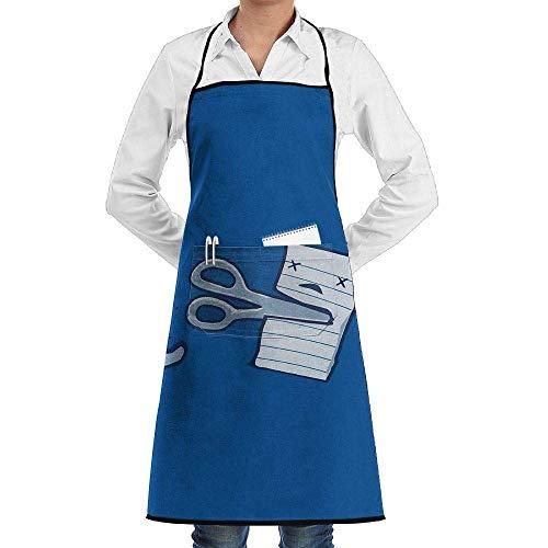 xcvgcxcvasda Einstellbare Latzschürze mit Tasche, Bib Schürze That Doesn't Really Hurt Pcissors Paper Durable Cooking Kitchen Schürzes Can Embroidery Cooking, Baking, Crafting, Gardening, BBQ