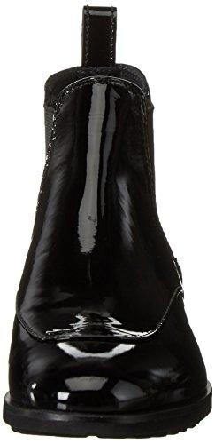Melvin & Hamilton - Mila 4, Stivali Chelsea Donna Noir (Patent Black/Elastic Black)