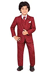 Jeet Boys Maroon Silk Coat Suit