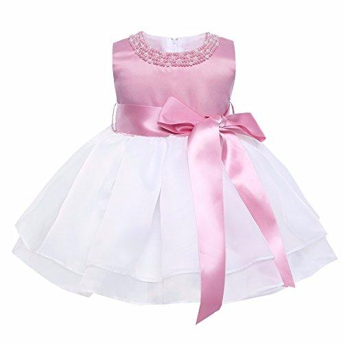 YiZYiF Baby Mädchen Kleid Taufkleid Festlich Kleid Hochzeit Partykleider Kleinkind Kinder Kleidung...