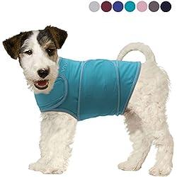 Camiseta Vivaglory ansiedad con alivio para el estrés y efecto antiansiedad para perros, ajustable, disponible en 7 colores y en 6 tallas.