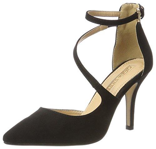 Buffalo-Shoes-Damen-315349-Bhwmd-Imi-Suede-Pumps-Schwarz-Black-01-38-EU