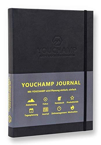 YOUCHAMP JOURNAL - Das Journal für mehr Freude, Fokus und Struktur | Erfolgsjournal, Tagesplaner und Dankbarkeitstagebuch | Einfache Tagesplanung für mehr Produktivität