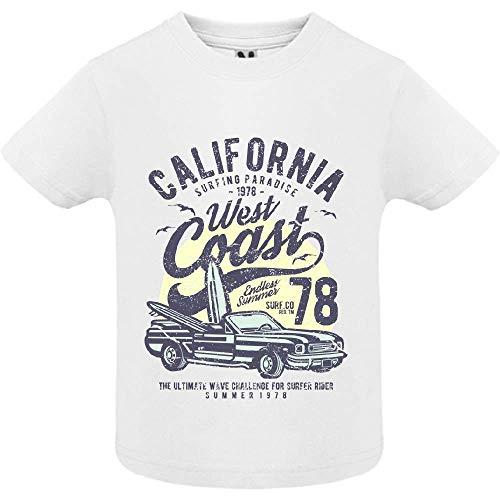 T-Shirt - California West Coast - Bébé Garçon - Blanc - 2ans