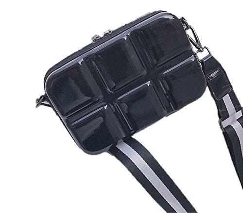 Fabelhaft Neue Geprägte Kasten-Beutel-Art- Und Weiseuntere Schulter-Bügel-kleine Quadratische Tasche Black