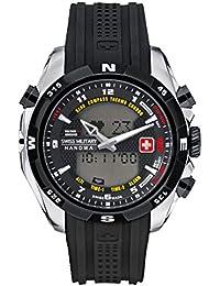 Swiss Military Hanowa - 06-4174.04.007.07 - Montre Homme - Quartz Analogique et digitale - Alarme/Altimètre/Eclairage/Moniteur de fréquence cardiaque - Bracelet Plastique Noir